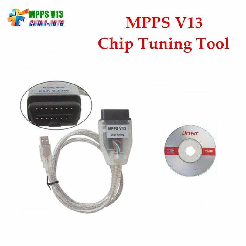 5 шт. SMPS MPPS V13.02 V13 K МОЖЕТ Flasher чип-тюнинг ЭКЮ программист REMAP OBD2 MPPS V13.02 Диагностический кабель с multi-Язык