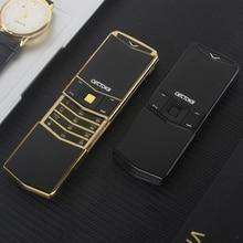 Luksusowy telefon metalowy korpus Cectdigi V05 najmniejszy Mini podwójny Sim Filp slajdów telefon komórkowy Bluetooth magiczny głos hebrajski rosyjski telefon