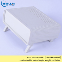 Plástico abs caixa de junção de plástico gabinete caixa elétrica instrumento diy caso do Desktop personalizado gabinete 210*175*65mm