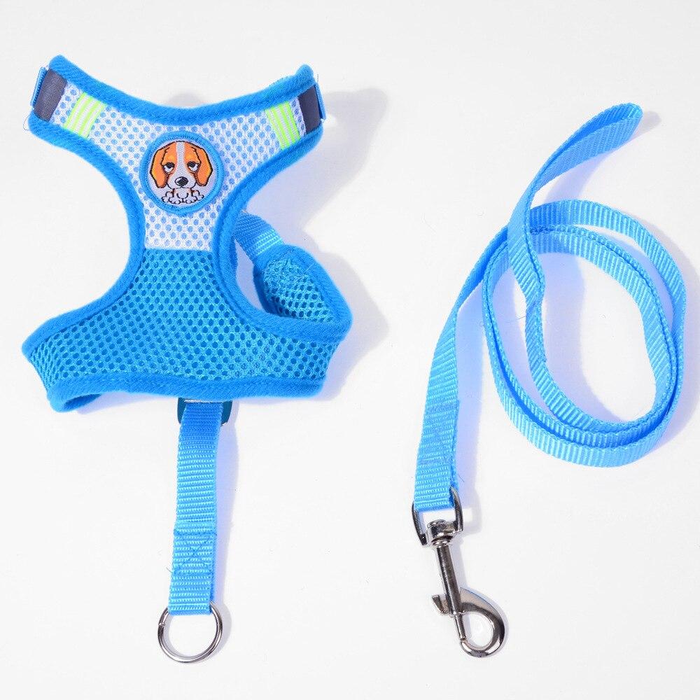 Adjustable Comfort Soft Breathable Dog Harness Pet Vest Rope Dog Chest Strap Leash Set Collar Leads Harness Pet Supplies