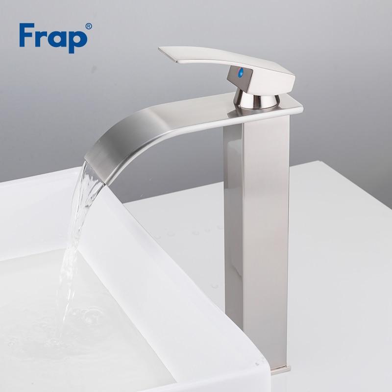 Frap Basin Nickel Brushed Faucets Bathroom Mixer Tap Brass Washbasin Faucet Single Handle Elegant Crane For
