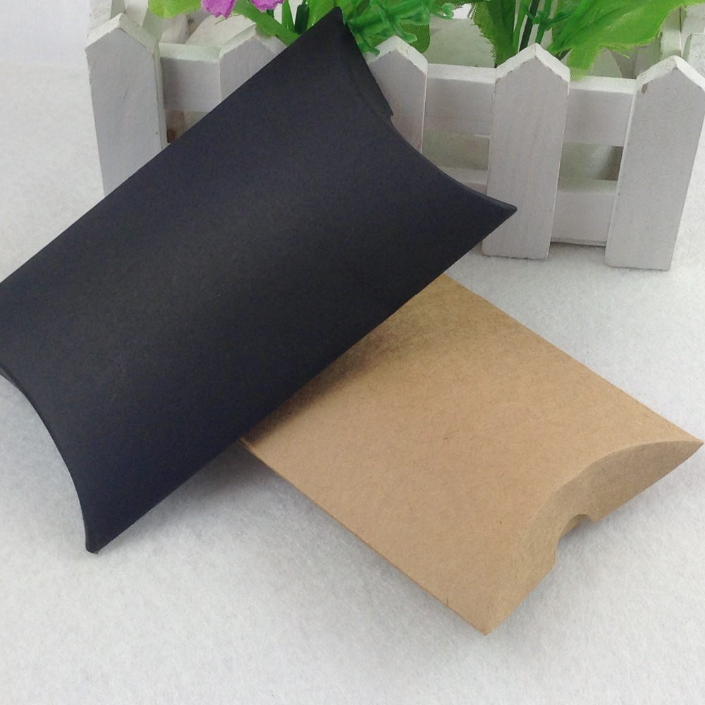 free shipping kraft paper gift box pillow shape boxes jewelry box 100pcs lot accept. Black Bedroom Furniture Sets. Home Design Ideas