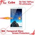 """Высокое Качество Закаленное стекло-экран протектор Для Cube T8 T8S T8Plus t8 окончательный 8 """"экран протектор фильм, Бесплатная доставка"""