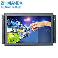 10.1 pulgadas 1080 p metal incrustado marco abierto unidad libre multi-punto táctil capacitiva Monitor pantalla LCD