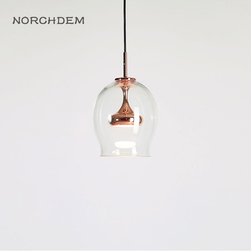 Vintage Glass Pendant Lamp 110 240V Clear Glass Lights Nordic Hanging Lamp kitchen Fixture Luminaire for Living room Bedroom