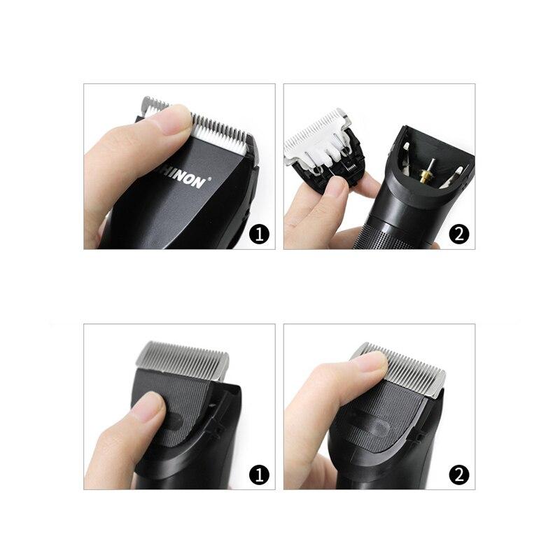 Shinon tondeuse à cheveux sans fil et Rechargeable ensemble tondeuse à cheveux barbe Machine de découpe Kit Eu Plug - 5