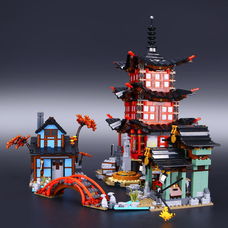 Ninja Go 10427 Big Temple of Airjitzu 2031PCS free shipping blocks boys Toys gift 70751 architecture DIY house mininatures