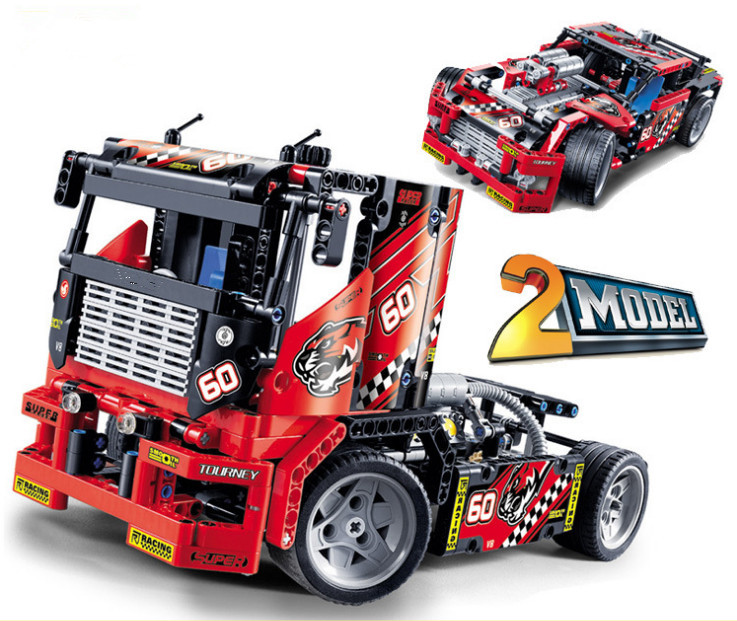 608pcs Race Truck Car 2 In 1 Transformable Model Building Block Sets Decool 3360 DIY Toys Compatible With 42041 Technic 608pcs race truck car 2 in 1 transformable model building block sets decool 3360 diy toys compatible with 42041