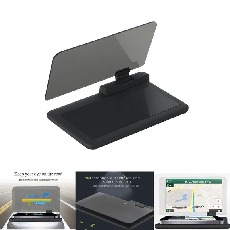 <font><b>H6</b></font> Universal <font><b>Car</b></font> <font><b>GPS</b></font> Navigation <font><b>HUD</b></font> Head Up Display Holder <font><b>Smartphone</b></font> with Transparent Reflection Film Non-slip Mat DXY