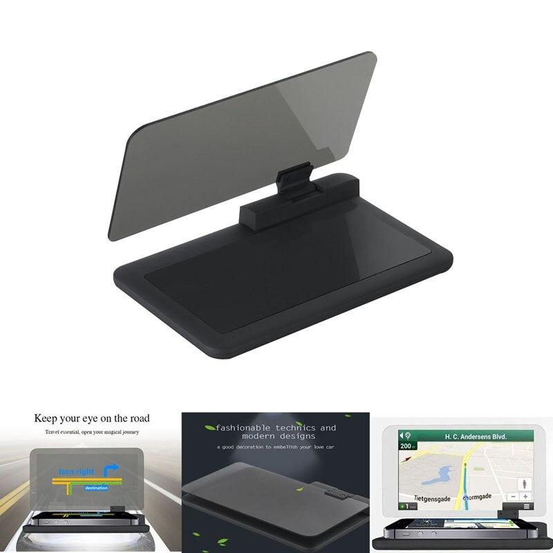 imágenes para H6 Navegación GPS de Coche Universal HUD Head Up Display Holder Smartphone con Película de Reflexión Alfombrilla antideslizante Transparente DXY