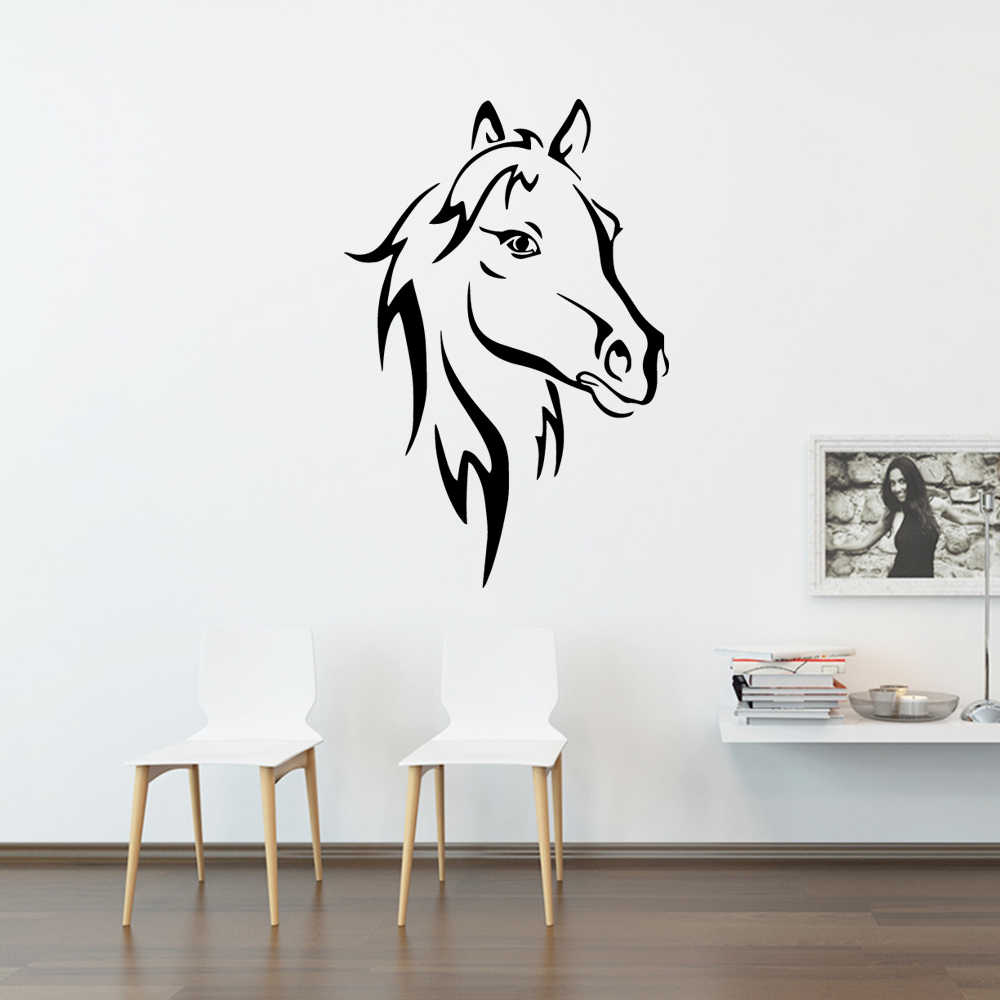NEW horse Waterproof Wall Stickers Wall Art Decor For living room bedroom  Art Decals