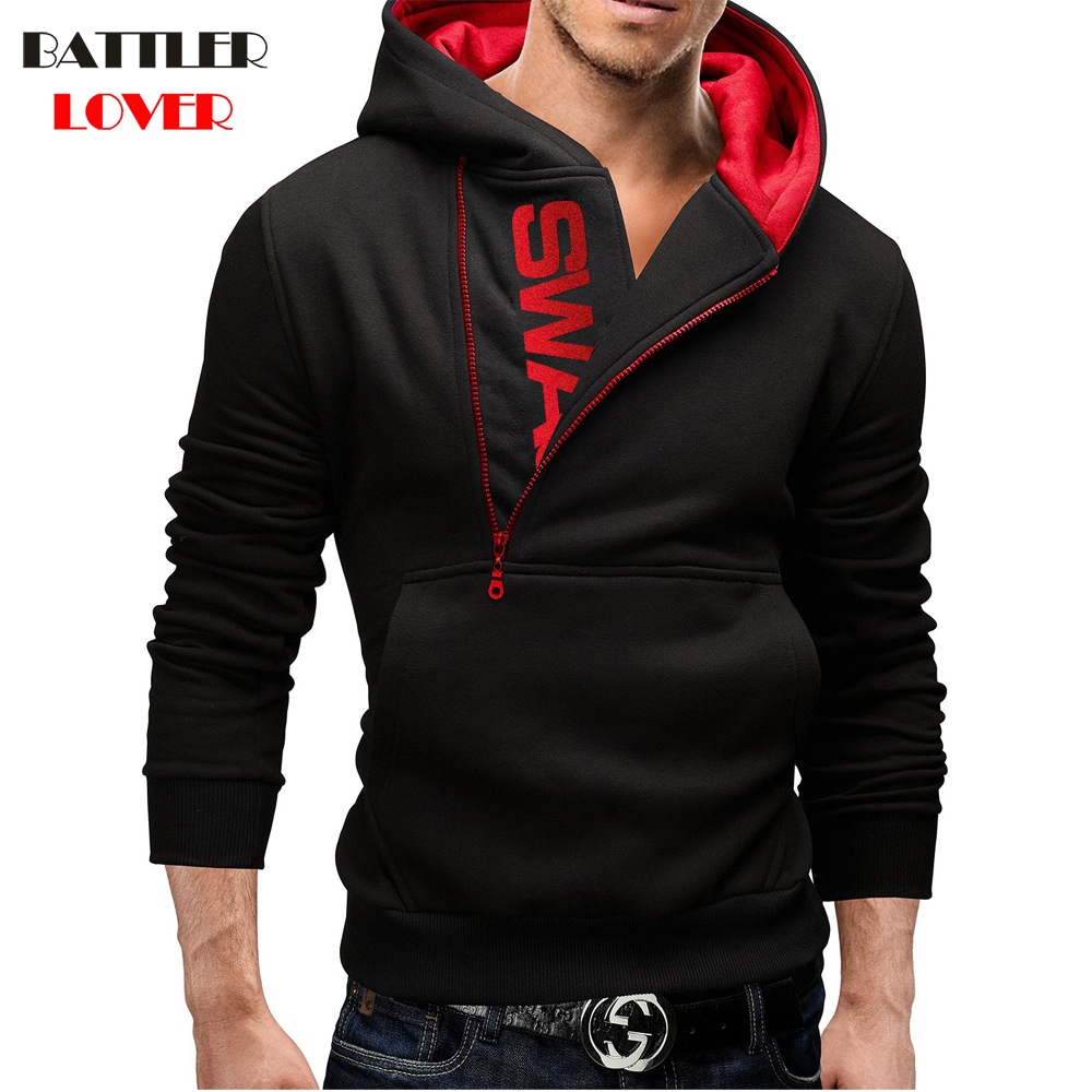 Alvinm Mens Outwear Autumn Casual Patchwork Hoodie Zipper Plus Size Jackets