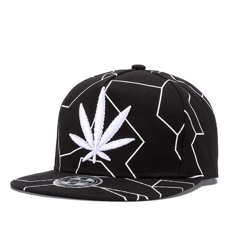 1912a854 2018 Gorras Planas Snapbacks Hot Style Masculino Feminino Hemp Leaf  Embroidery Flat Hat Baseball Cap Hip Hop Cap Hat Swag Mens