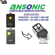 For Ansonic SA868-1mini/M,SA864-2mini/M Cloning replacement Remote Control Duplicator 868,3 MHz