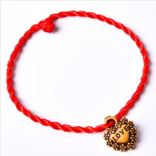 Hot Sale 2019 1PC Fashion Red Thread String Bracelet Lucky Handmade Rope Bracelet for Women and Men Jewelry Lover Couple(China)