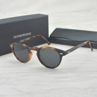 Vintage Polarized Polaroid Lense Sunglasses Gregory Peck Classic Brand Designer Men Women Retro Sun Glasses Gafas