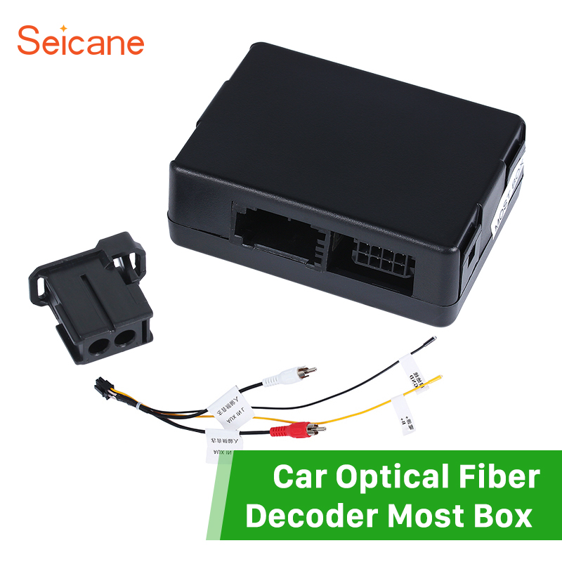 Seicane Black Car Optical Fiber Decoder Most Box for 2002-2012 Mercedes-Benz E-Class W211 E300 E320 Bose Harmon Kardon Amplifier seicane car optical fiber decoder most box for 2002 2012 mercedes benz e class w211 e200 interface bose harmon kardon audio