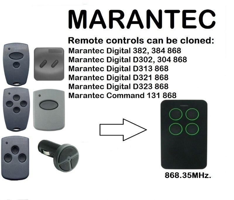 Marantec Digitale 382 384 D302 D304 D313 D321 D323 Duplizierer 315-418-433-868mhz Sicherheit & Schutz