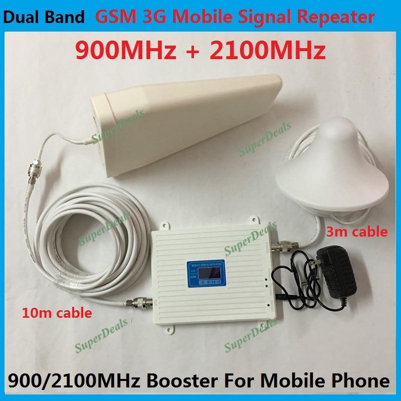 Dual Band 2 г/м² 3g мобильный ретранслятор сигнала lte UMTS 2100 мГц 3g сигнала сотового телефона ракета-носитель 2 г gsm репитер celulares