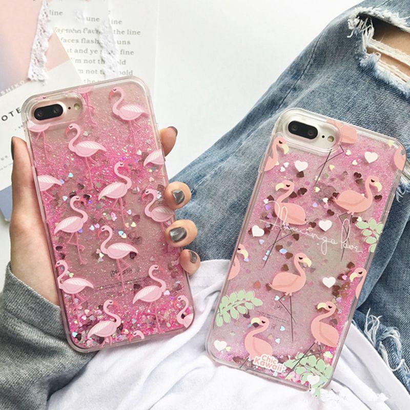 iPhone 6s/6 Quick Sand Glitter Flamingo