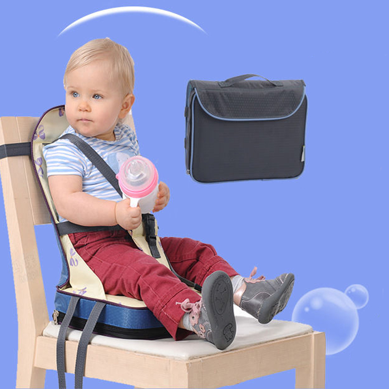 Foldable baby chair Portable Light Weight baby Seat Feeding Toddler seat high quality Safety Belt booster Seat eat Dining Chair 2017 direct selling high quality export aluminium frame baby feeding chair food tray included booster newborn seat can sleep