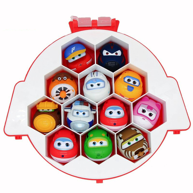 2018 new transformation toys catapult mini super wings planes deformation airplane robot eggs action toyfigures christmas