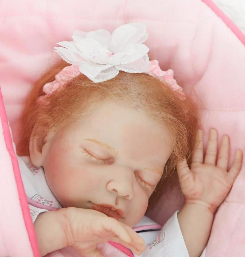 50 cm Silicone Reborn Baby Dolls Bébé En Vie Réaliste Boneca Bebe Réaliste Vraie Fille Poupée lol d'origine Reborn D'anniversaire De Noël