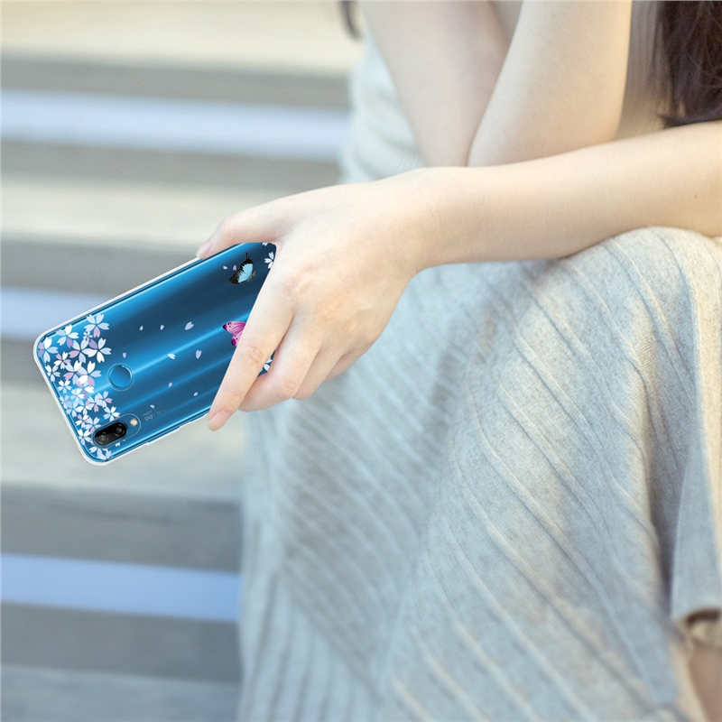 Luxury Cover For Huawei P10 P20 Case For Huawei Mate 10 20 Lite Case For Huawei Honor 9 Lite Transparent Silicone Soft TPU Cute in Fitted Cases from Cellphones Telecommunications
