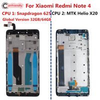 MTK Helio X20 Global Version 32GB 64GB Snapdragon 625 LCD Display Touch Screen Digitizer Assembly Frame