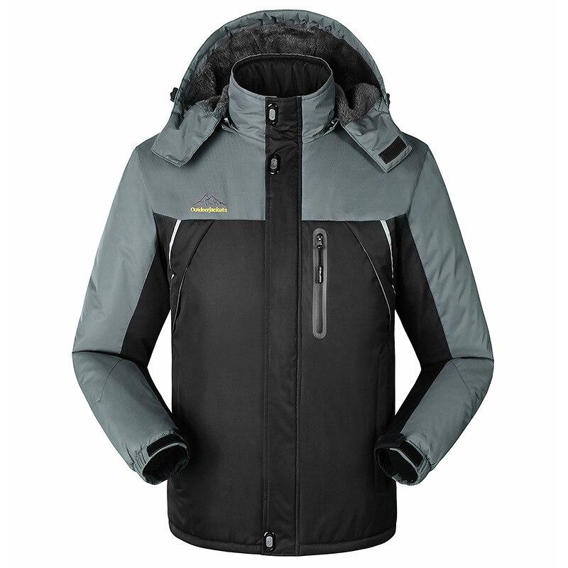 -30 C FIT Plus Thick Velvet Down & Parka Coat 6XL 7XL 8XL 9XL 2019 Warm Winter Jacket Waterproof Windproof Men's Windbreaker 2