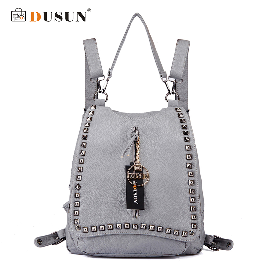 DUSUN New Genuine Leather font b Shoulder b font Bag Fashion Travel Bag High Quality font