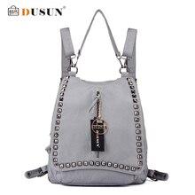DUSUN New Genuine Leather Shoulder Bag Fashion Travel Bag High Quality Shoulder Women Backpack Mochila Feminina Casual Backpack