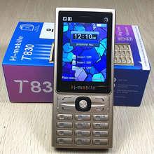 Три sim телефон кнопки русской клавиатуры 2,8 «экран телефона gsm мобильного телефона дешевый телефон Китай сотовые телефоны оригинальные H-mobile T830