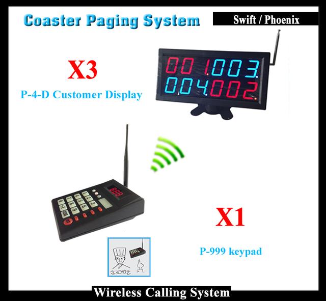 K-d4 inalámbrica restaurante Sistema de Llamada de buscapersonas coaster Con Pantalla Led Y Teclado llamar al Cliente