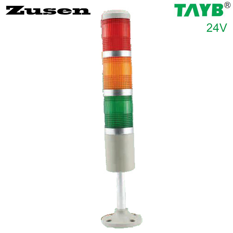 Zusen NEW 24v red yellow and green color led 50mm signal tower light with three layer zusen new 24v red yellow and green color led 50mm signal tower light with three layer