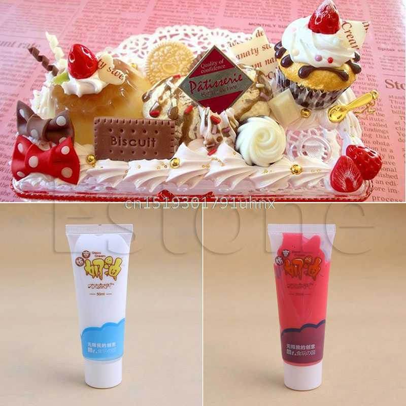 lowest price ca45a 50e0c 50g Whipped Cream Clay Kawaii DIY Craft Glue Cupcake Phone Case Decor  Moulding