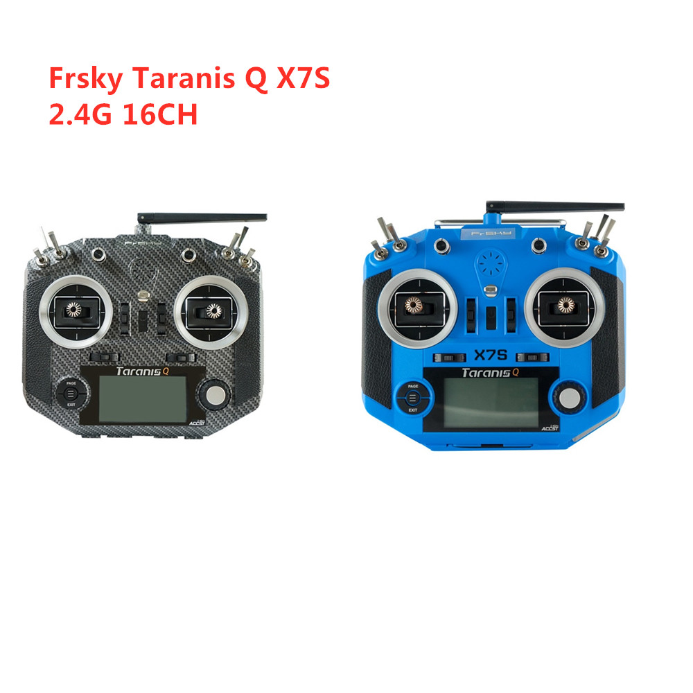 Frsky 2 4G 16CH ACCST Taranis Q X7S Carbon Fiber Water Transfer Transmitter Remote Mode 2