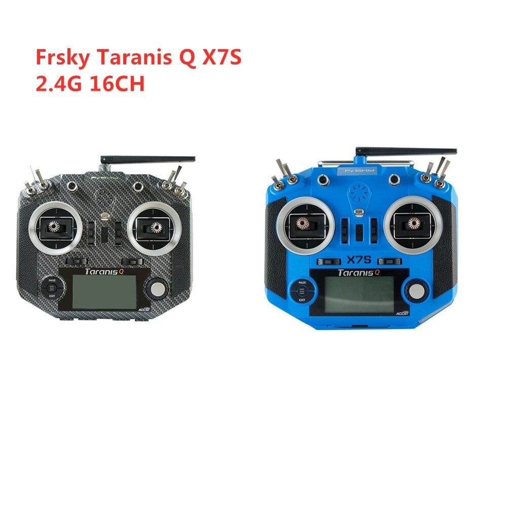 Frsky 2.4G 16CH ACCST Taranis Q X7S Carbone fibre Eau Transfert Émetteur À Distance Mode 2 avec R9M Récepteur pour RC drone de course