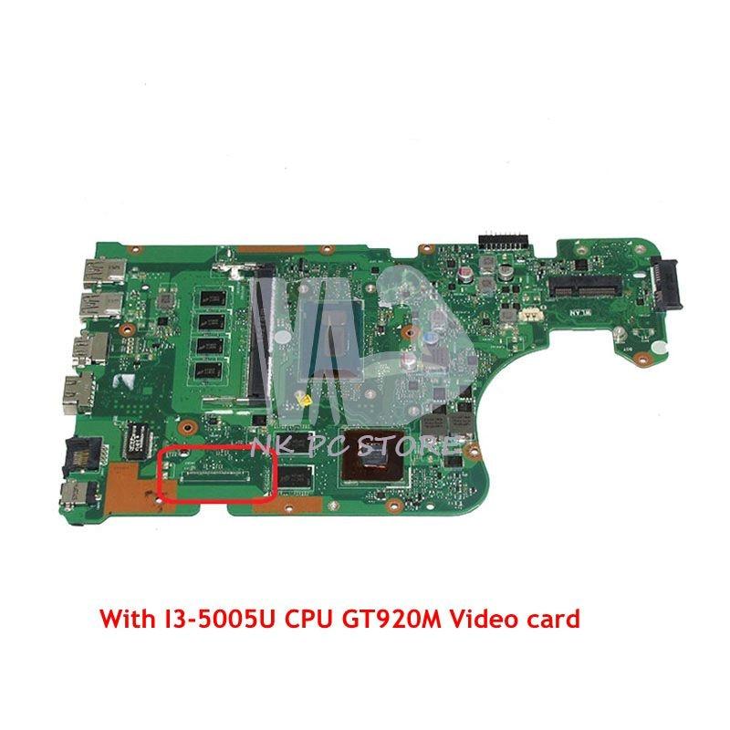 NOKOTION PN 60NB0810 Laptop Motherboard For Asus X555LD X555LJ MAIN BOARD SR244 I3-5005U CPU GT820M Video card цена