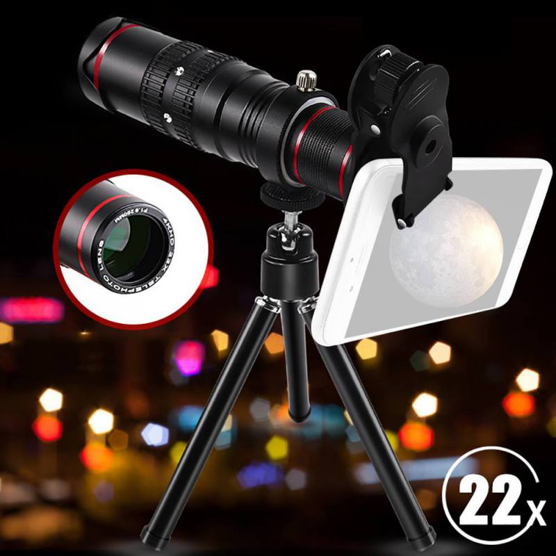 Universal HD 22X Times Mobile Phone Telephoto Lens Mobile Phone Lens Telescope for iPhone SamSung Xiaomi HuaWei SmartphonesUniversal HD 22X Times Mobile Phone Telephoto Lens Mobile Phone Lens Telescope for iPhone SamSung Xiaomi HuaWei Smartphones