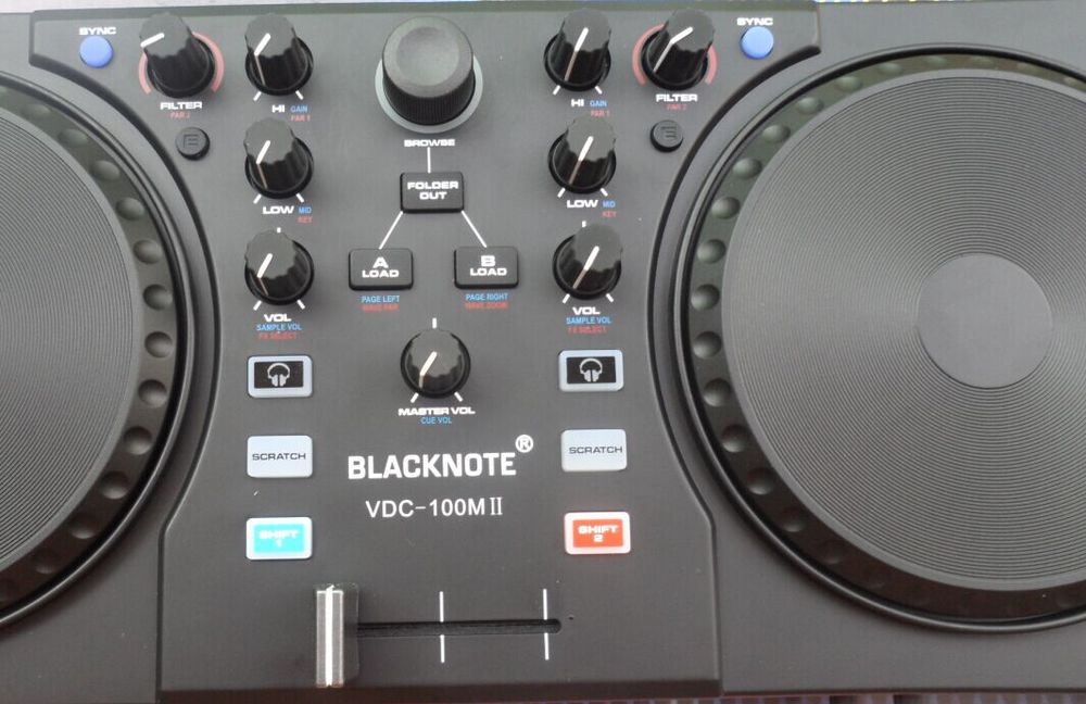 BLACKNOTE DJ controller to play disc players Mixing MIDI controller computer sound mixer mixing console audio mixer