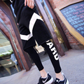 Hombres pantalón legging calle impresión de la letra pantalones hip hop pantalones flacos masculinos pantalones de chándal (pantalón corto no están incluidos) J601