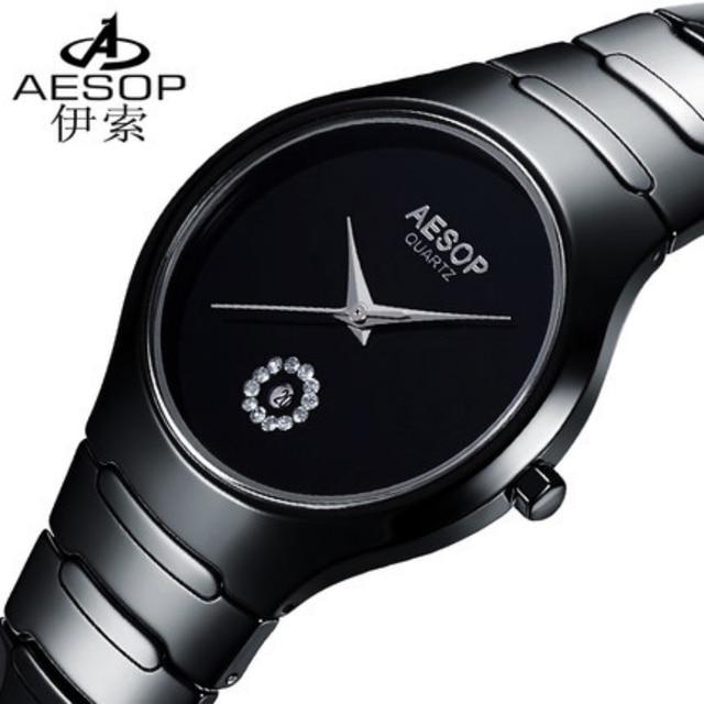 Couple Quartz Watch AESOP Luxury Brand Pure Ceramic Strap Watches Pure White/Black Women/Men Business Dress Wristwatch 9901