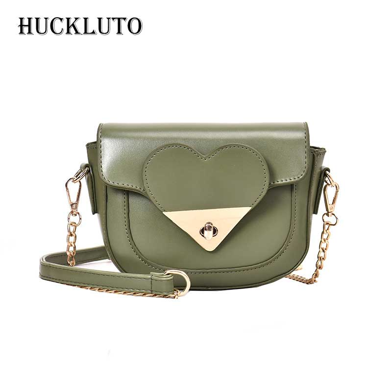 HuckLuto 2019 New Limited Time Discount Fashion Luxury Chain Love Small Red Pink Crossbody Leather Teen Female Shoulder BagHuckLuto 2019 New Limited Time Discount Fashion Luxury Chain Love Small Red Pink Crossbody Leather Teen Female Shoulder Bag