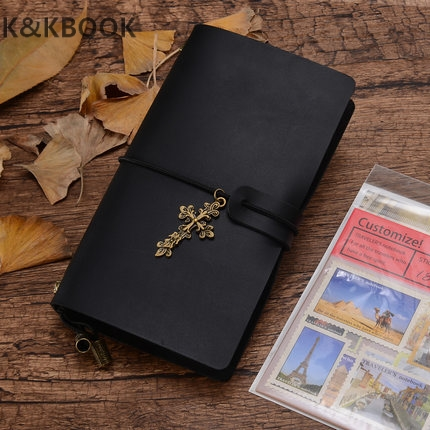 K&KBook Genuine leather bound notebook travel journal handmade notepad vintage style loose leaf journal school supplies notebook leather notebook diary loose leaf notebook vintage travel notepad leather notepad customization office school supplies n112