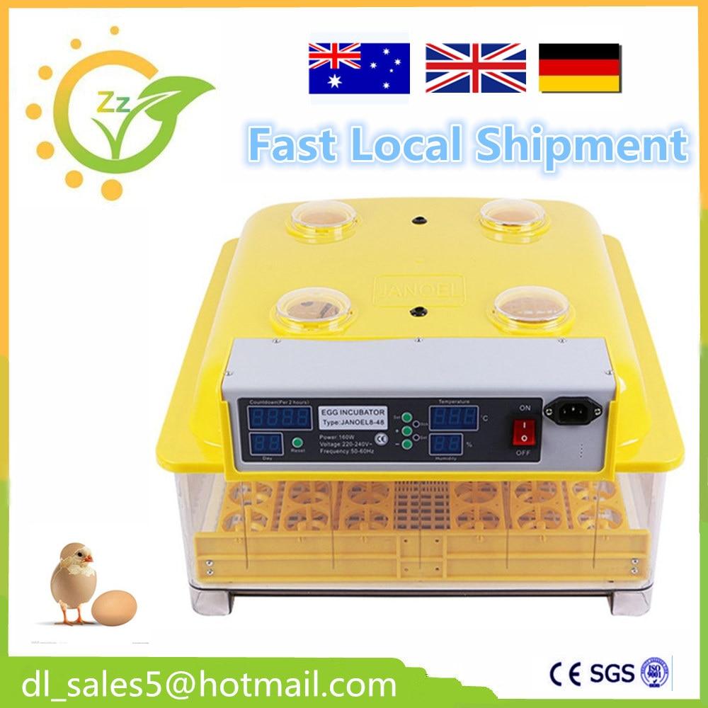 Fast Local Shipment ! Full automatic egg Incubator Chicken Duck Goose Quail brooder egg Incubator  48 eggs