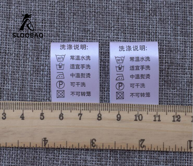 100/% cotone tessuti etichetta abbigliamento indumento sew-in tessuti ETICHETTE CARTELLINI BIANCO