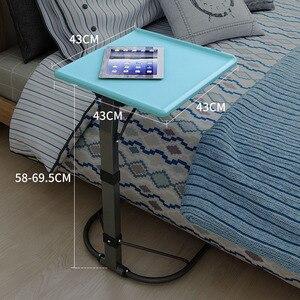 Image 5 - U 모양 플라스틱 pc 테이블 컴퓨터 책상 학습 소파 노트북 침대 테이블은 20kg 조정 가능한 연구 밀도 보드 데스크를 곰 수 있습니다
