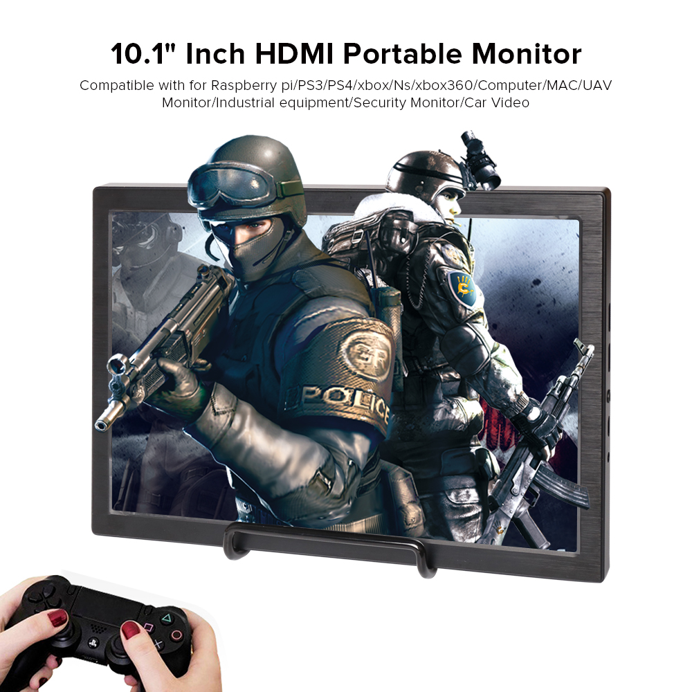 10.1 inch Gaming Monitor Portable 2560x1600p HDMI IPS 2K Monitor Display For PS3 PS4 xbox Ns xbox360/ Raspberry pi / Computer MA