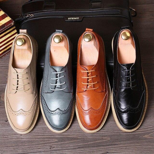 18c208a2fb Jack Willden Moda Zapatos de Vestir de Cuero de Los Hombres Casuales Para  Hombre Del Partido